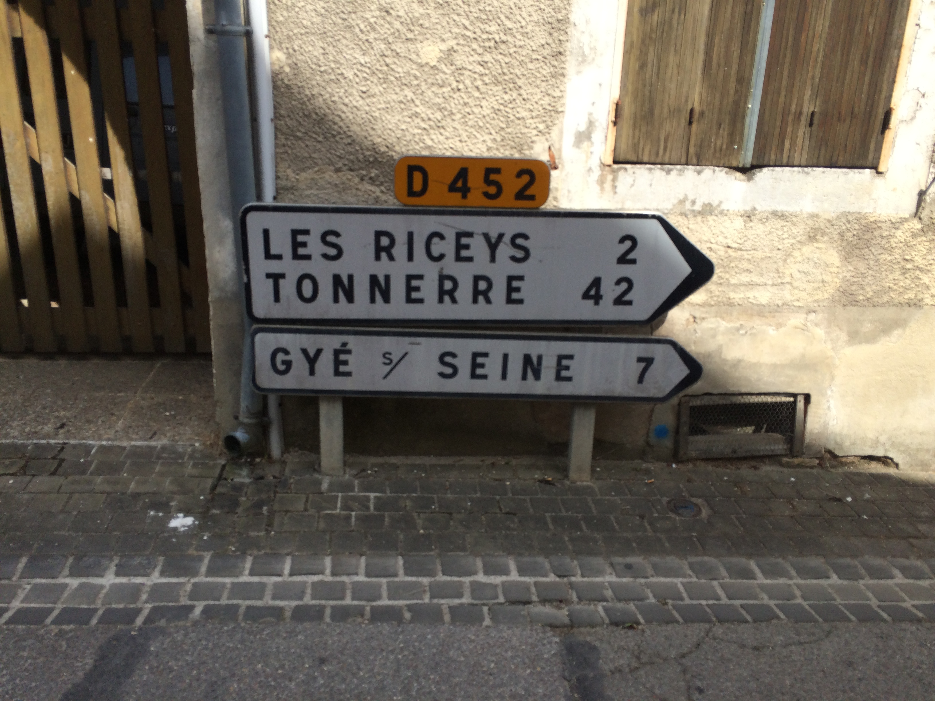 Les Riceys Street Sign
